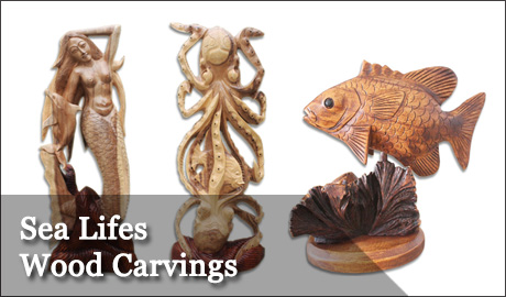 Animals once a tree wood carvings once a tree